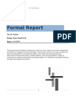 formal report engl 310