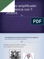 Circuito Amplificador de Potencia Con T- 2n3055