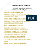 State Liaison Offices in Abuja