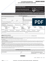 Print Form Customer Information 2010 Cash-back Reward