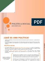 Politica Social 1 - Resumen