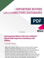 WORLD IMPORTERS BUYERS LIST DIRECTORY DATABASE.pdf