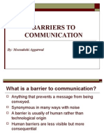 GET TO KNOW ABOUT BARRIERS TO EFFECTIVE COMMUNICATION