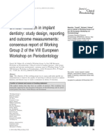 Clinical Research in Implant Dentistry Study Design,