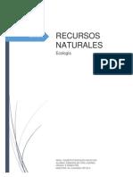 RECURSOS NATURALES (Ecología)