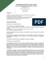 La Organizacion de Una Tesis Godoy 2004 Proyecto Tesis Fic Unsaac 2014 II PDF