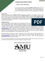 Amu Rebate Qualifications