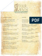 Four Winds menu