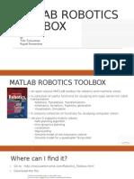 Matlab Robotics Toolbox