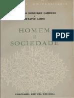 Homem e Sociedade - CARDOSO, Fernando Henrique; IANNI, Octavio