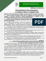 SINTESIS DE NOTICIAS SAGARPA