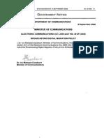 Broadcasting Digital Migration Policy 2008