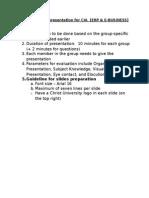 CIA 1 - Presentation - Guidelines