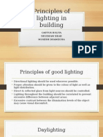 Principles of lighting in a building