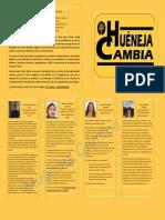 Candidatos de Huéneja Cambia a las elecciones municipales 2015
