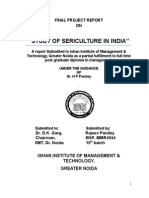 """Study of Sericulture in India"""
