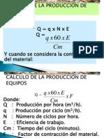 calculo produccion maquinarias