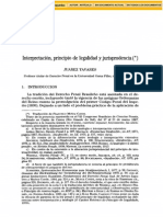 InterpretacionPrincipioDeLegalidadYJurisprudencia Tavares