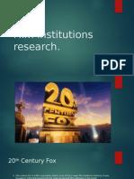 Film Institutions Research