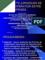 Aspects Juridiques de La Cooperation Entre Entreprises