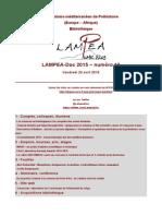 LAMPEA-Doc 2015 – numéro 13 / Vendredi 24 avril 2015