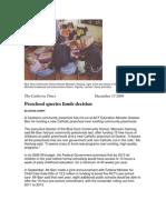 Canberra Times Preschool queries funds decision December 13 2009