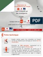Les modes de transport des Français
