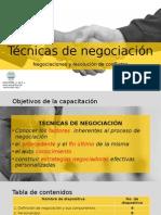 Técnicas de Negociación y resolución de conflictos