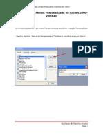 Criar Barra de Menus Personalizada No Access 2000-2003-XP