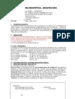 m. d. Arquitectura- (modelo de Memoria descriptiva)