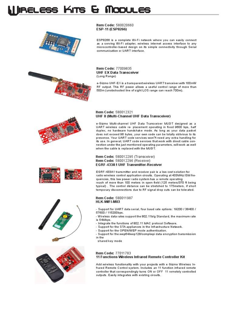 Wireless Kits Modules For Gizduino Microcontrollers General Verysimpleirremotecontrolcircuit Packet Radio Service