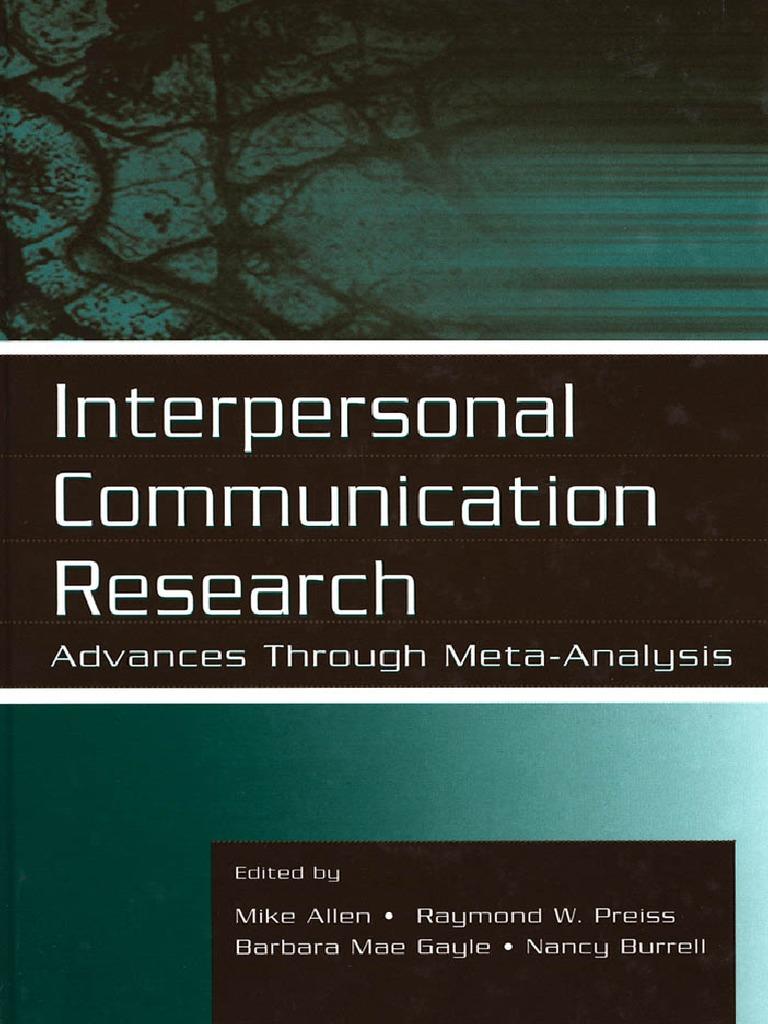 Cool Interpersonal Communication Research Advances Through Theyellowbook Wood Chair Design Ideas Theyellowbookinfo