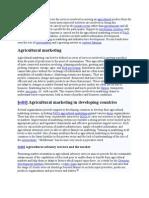 Agricultural Marketing Finance