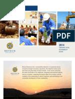 Nevsun 2014 CSR Report