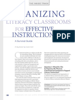 Organizing Literacy Classrooms for Effective Instruction