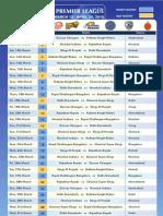 IPL 2010 Schedule