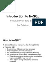 NoSQL Intro