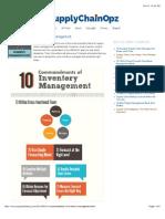 10 Commandments of Inventory Management