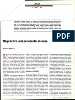 Malpractice and Perio Disease