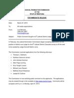 8th Judicial District Public Comment Request