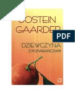 Gaarder Jostein - Dziewczyna z Pomarańczami