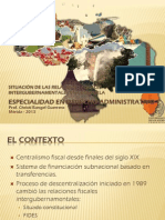 Situación de las Relaciones Fiscales Intergubernamentales en Venezuela