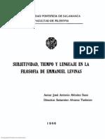Subjetividad, Tiempo y Lenguaje en La Filosofía de Emmanuel Levinas (Tesis)