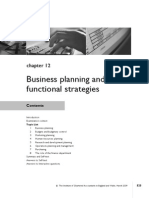 Chap - 12 Business Planning and Functional Strategy