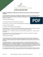 Conseil Constitutionnel 115444 Stabilite