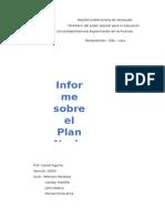 Informe Sobre El Plan Nacional Socialista Simon Bolivar 2013 - 2019