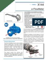 cla-val e- flowmeter X144
