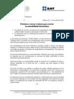 Comunicado de prensa 048/2015