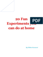 20 Fun Experiments You Can Do at Home