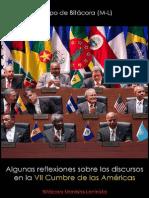 Equipo de Bitácora (M-L), Algunas reflexiones sobre los discursos en la Séptima Cumbre de las Américas, 2015.pdf